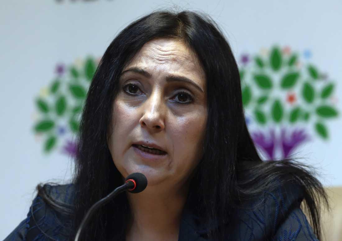 Figen Yüksekdag riskerar 83 års fängelse för terroristbrott.