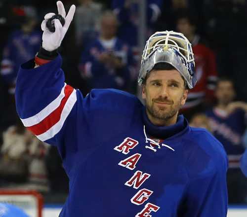 """Henrik Lundqvist, New York Rangers. """"Grattis""""."""