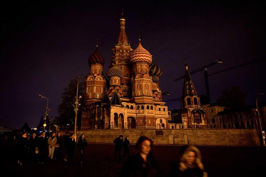 Vasilijkatedralen i Moskva.