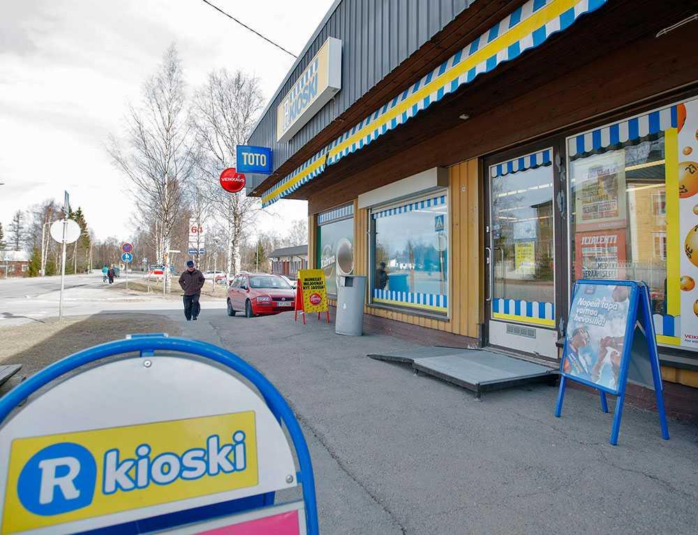 Kiosken i Toijala där sällskapet lämnade in tipsraden.