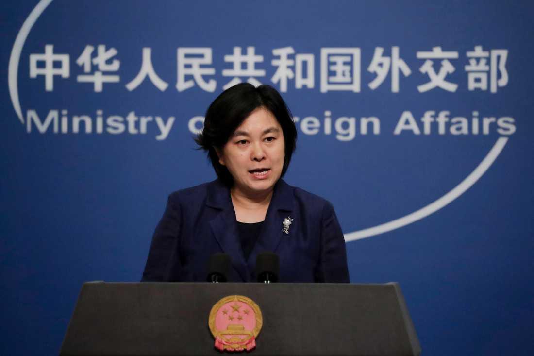 Det kinesiska utrikesdepartementets talesperson Hua Chunying. Arkivbild.