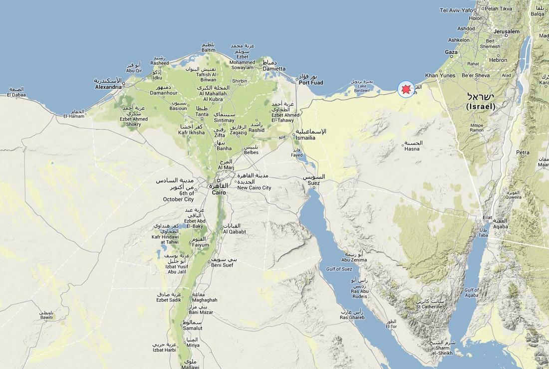 KARTA Våldsamheter har blossat  upp i norra Sinai i Egyptens nordöstligaste delar.