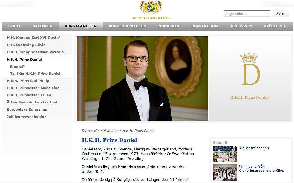 Prins Daniel – nu en i familjen.