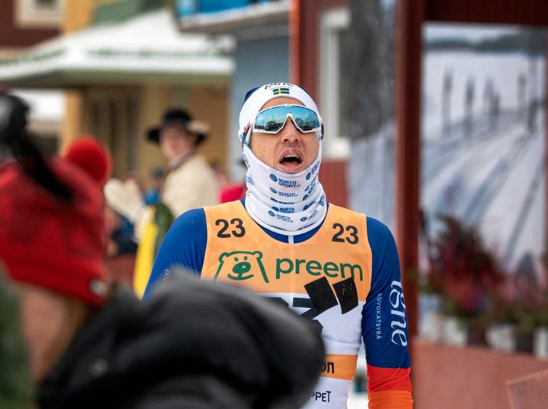 Klas Nilsson blev bäste svenske herråkare i Vasaloppet.