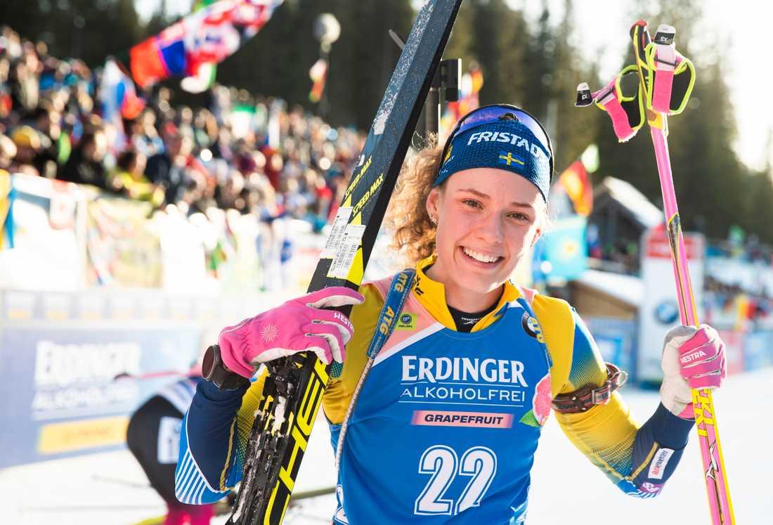 """Hanna Öbergs formkurva har pekat rakt upp efter jul. """"Det känns som att jag har hittat rätt och jag vet vad jag ska göra"""", säger hon."""