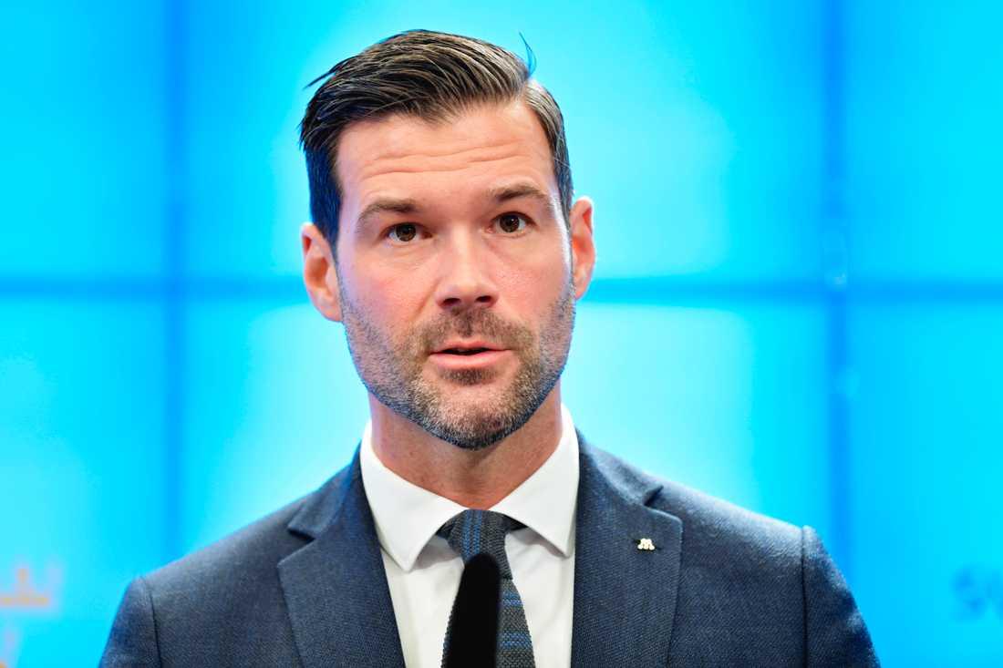 Johan Forssell, rättspolitisk talesperson för Moderaterna. Arkivbild.