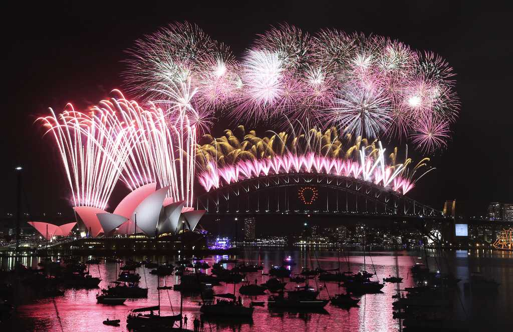 Nyårsfirande i Sydney.
