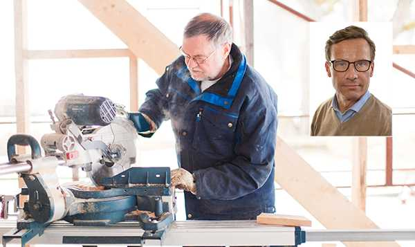 """Ulf Kristersson (M): """"Alla som har jobbat, gjort rätt för sig och varit med och byggt Sverigebilden starkt ska också tryggt kunna leva på sin pension när de lämnar arbetslivet. """""""