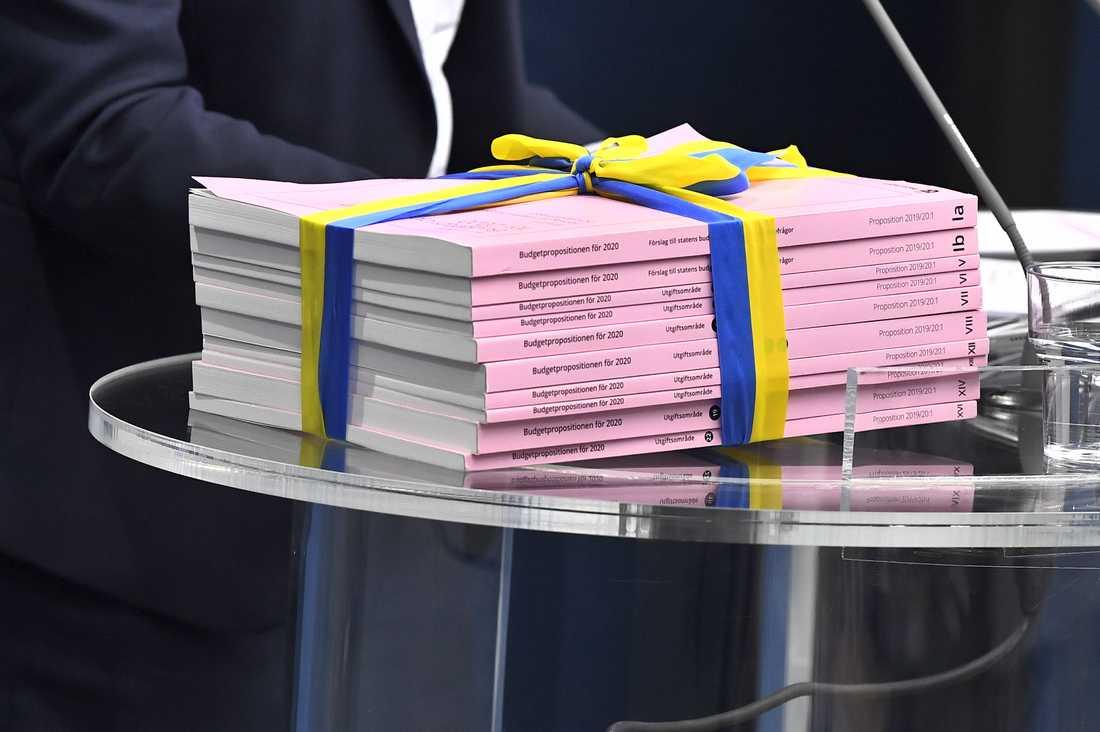 Regeringens budgetpropositionen för 2020.
