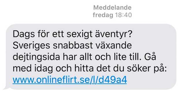 Sex sms exempel