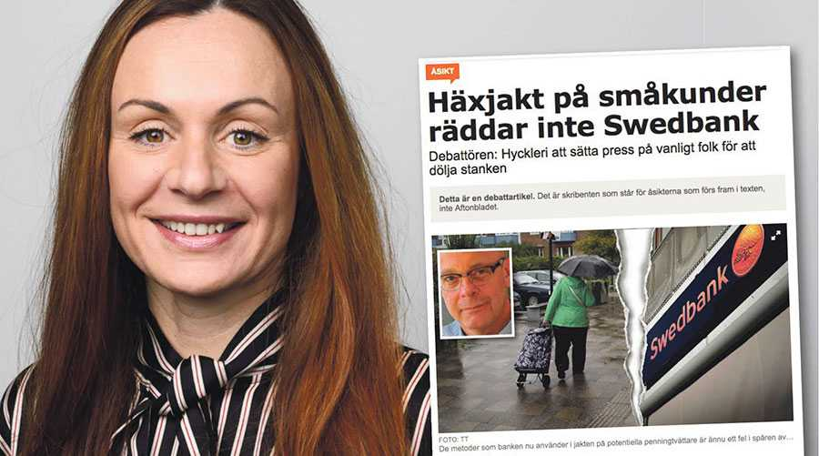 Vi samarbetar fullt ut med myndigheter och andra intressenter, men tyvärr gör bland annat banksekretessen att vi inte kan svara på alla de frågor vi får, skriver Elizabet Jönsson.