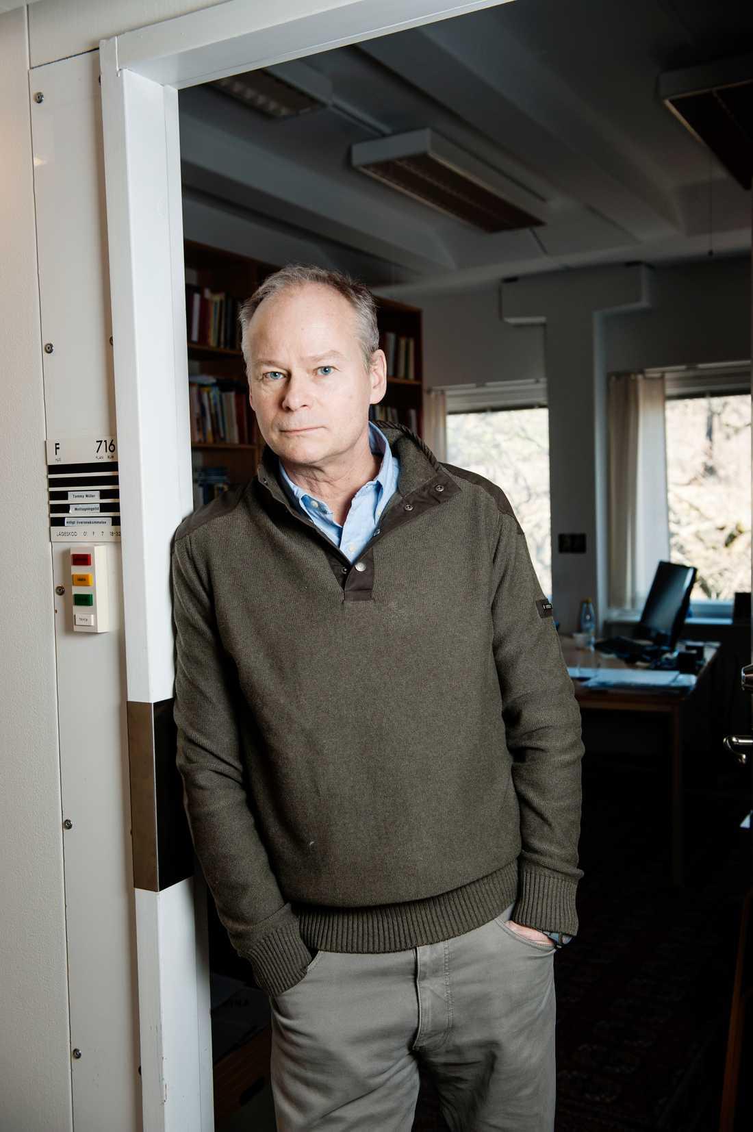 Statsvetare Tommy Möller anar att S och SD gått framåt. Arkivbild.