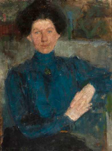 Olga Boznanska, Porträtt av Maria Kozniewska-Kalinowska, 1903.