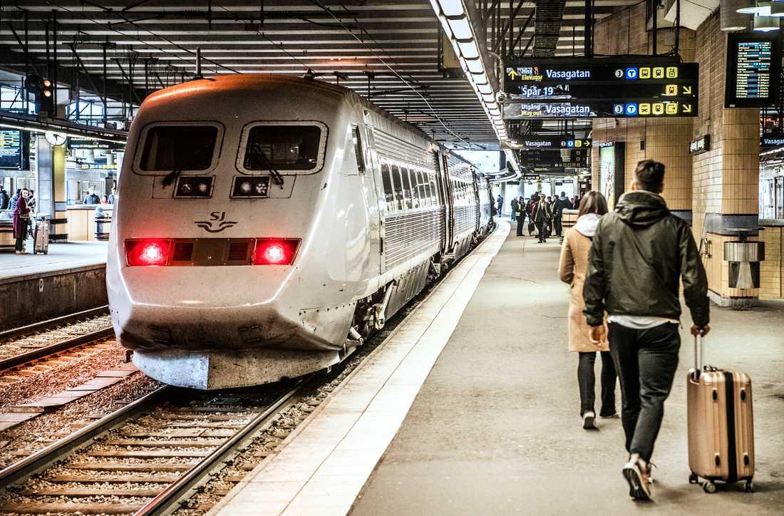 SJ har fått kritik för trängsel på tågen under pandemin. Arkivbild.