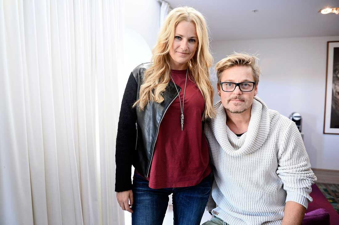 Laila Bagge Wahlgren med ex-maken Niclas Wahlgren.