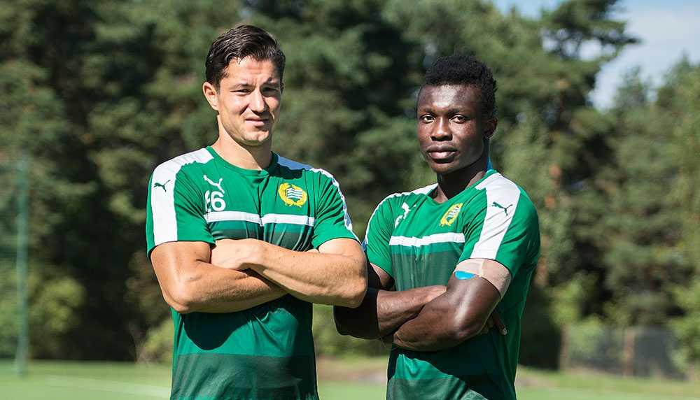 David Boo Wiklander och Joseph Aidoo bildar ett mycket starkt mittlås i Hammarby. I dag väntar ett hett derby mot AIK.