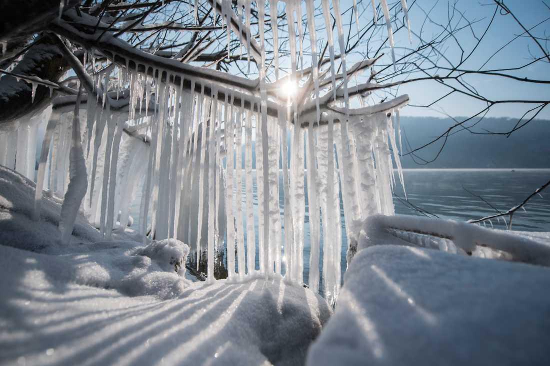 Även Schweiz drabbades hårt av snövädret