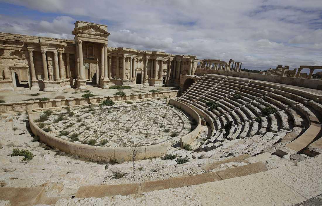 Den antika teatern uppfördes vid slutet av 100-talet e.Kr.