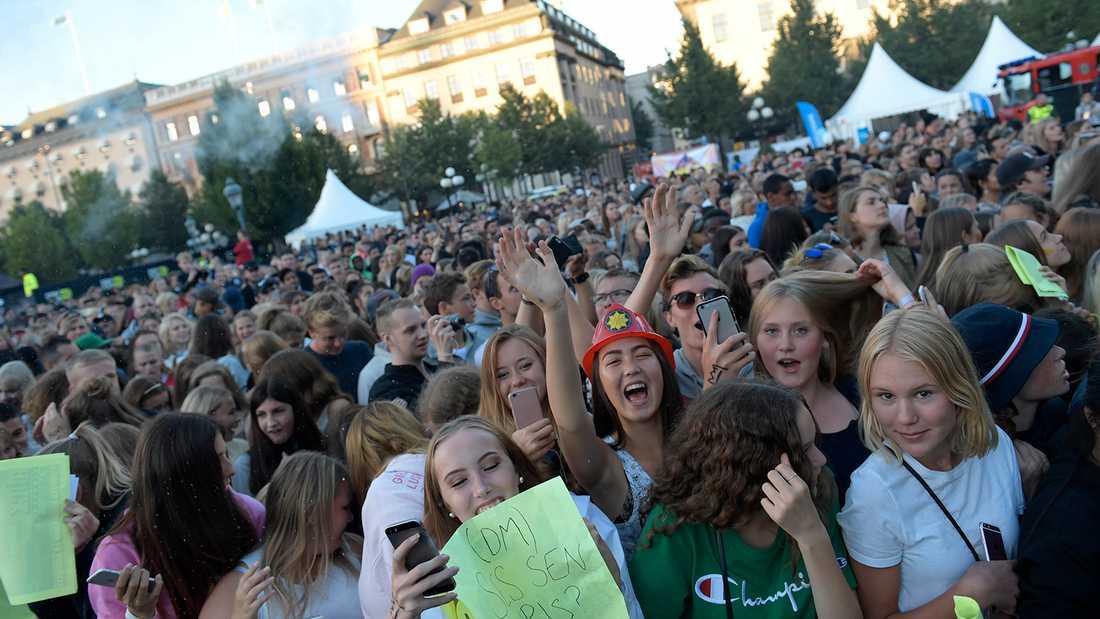 Så såg det ut på Rockbjörnen 2017 i Kungsträdgården i Stockholm. Den 15 augusti är det dags igen.