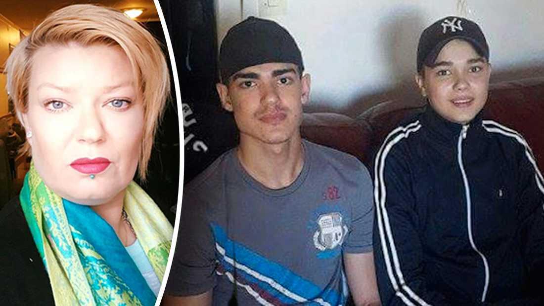 Carolina Sinisalos båda söner sköts i Akalla. Den yngste, Robin till höger i bilden, dog och Alejandro hamnade i rullstol. Nu är hon engagerad i kampen mot kriminalitet.