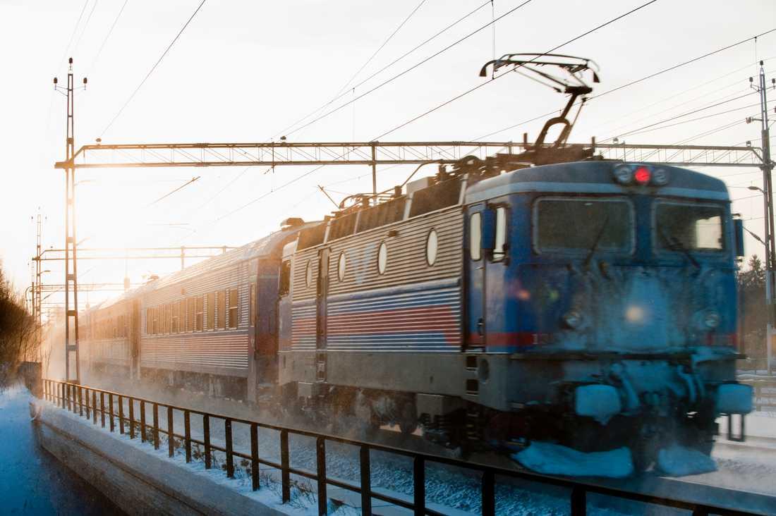 Tåg ska börja vintertestas på en bana mellan Jörn, strax norr om Skellefteå, och Arvidsjaur. Arkivbild.