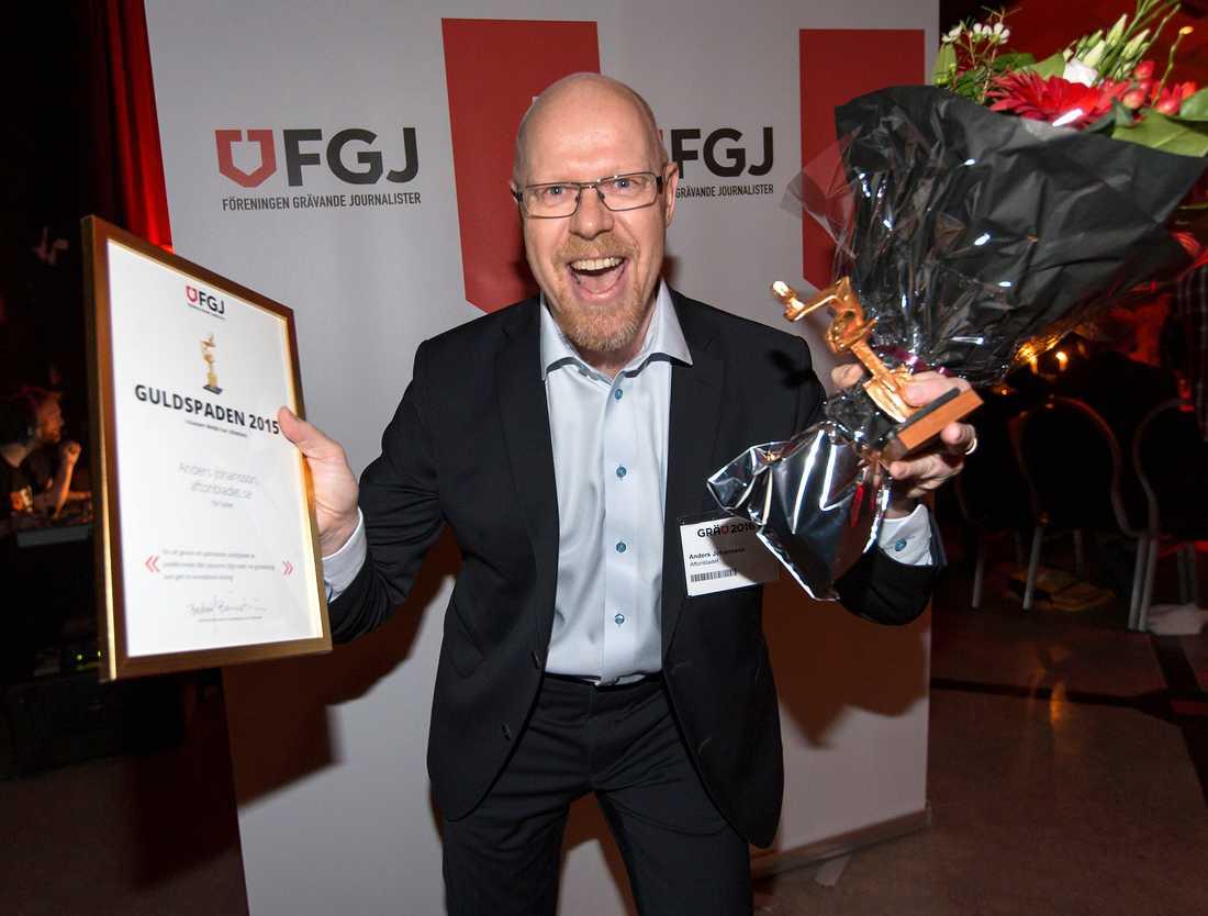 Anders Johansson får Guldspaden
