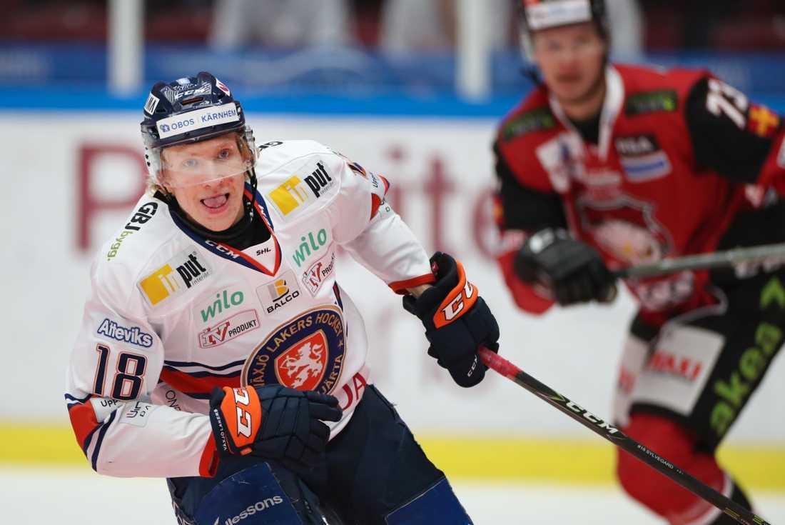 Marcus Sylvegård, målskytt för Växjö. Arkivbild.