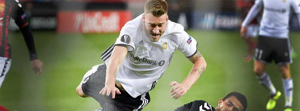 Nicklas Bendtner spelade hela matchen när Rosenborg föll mot Valur.