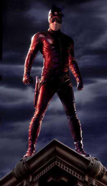 "Ben Affleck som ""Daredevil""."