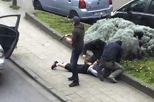 Fredagens polisingripande i Bryssel.
