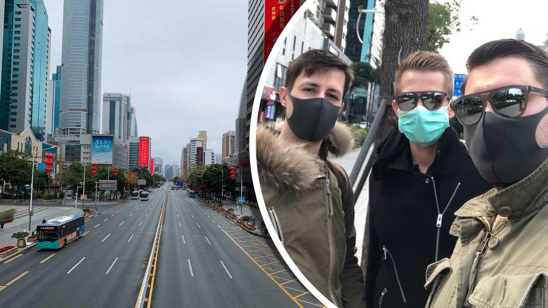 Uppsalaentreprenörerna tvingades fly och lämna sitt företag i mångmiljonstaden Shenzhen.