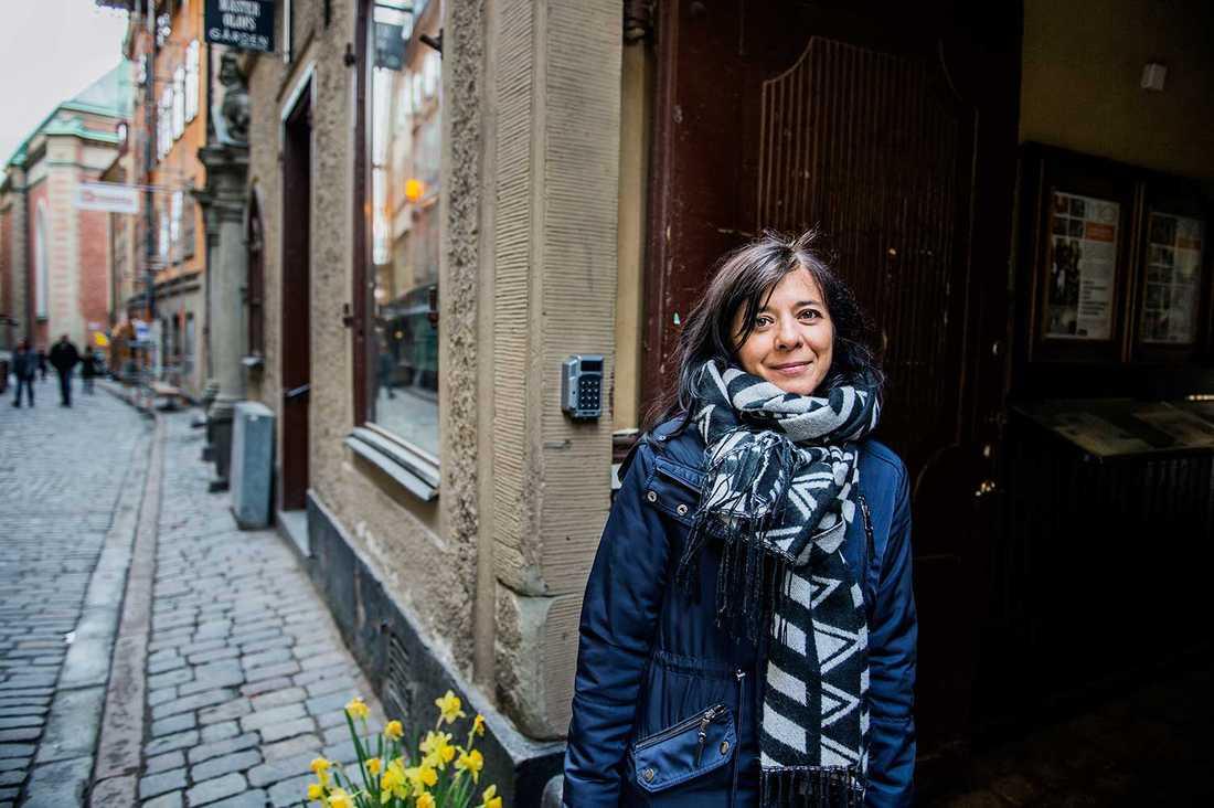 - Jag önskar att fler utlandsfödda bodde här, säger Sara Fischer.