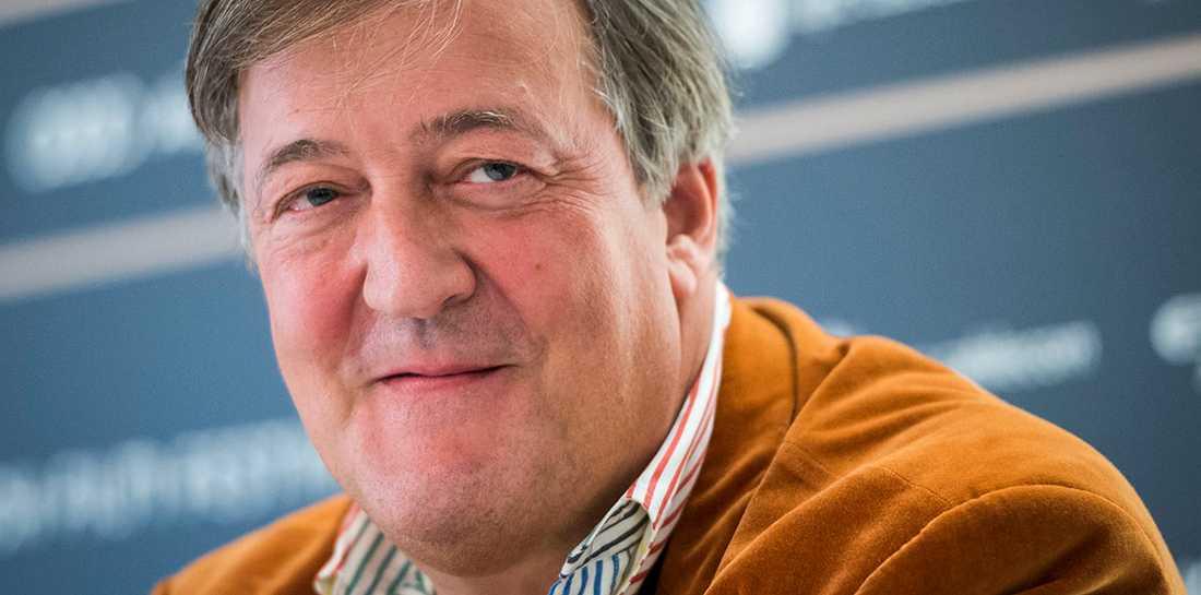Stephen Fry är skådespelare, komiker, programledare –och mycket beläst.