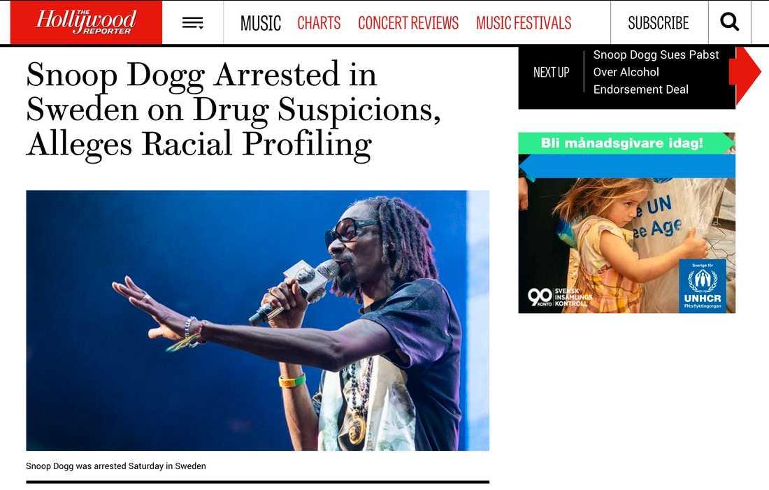 Hollywood Reporter Snoop Dogg Arrested in Sweden on Drug Suspicions, Alleges Racial Profiling
