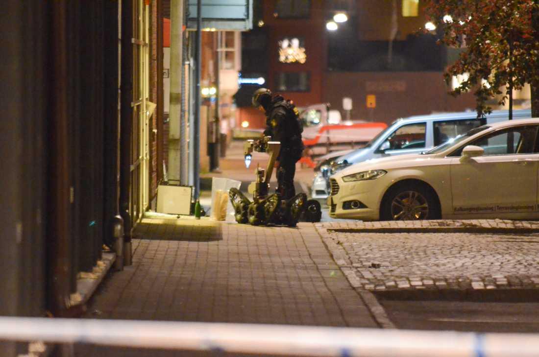 Nationella bombskyddet på plats i Borås.