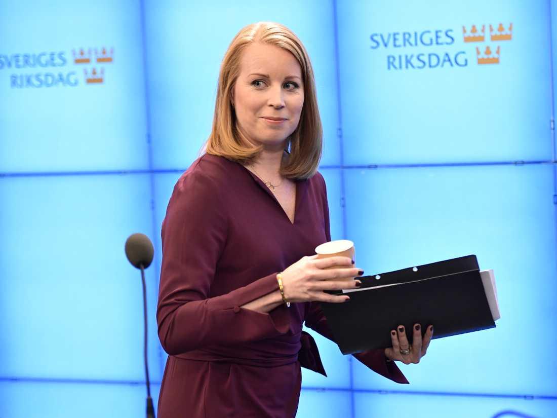 S och MP öppnar dörren för Centerledaren Annie Lööf som sonderingsperson. Arkivbild.
