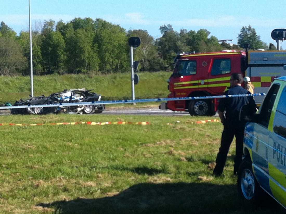 I olyckan dog fyra personer.