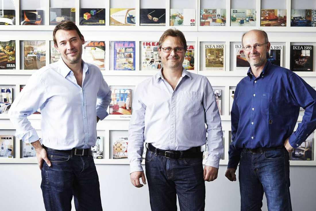 Sönerna Jonas, Mathias och Peter Kamprad.