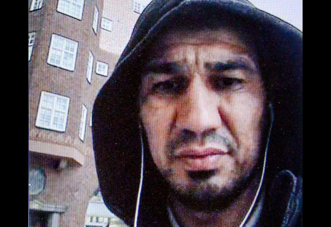 Bild från polisens förundersökningsprotokoll på terroristen Rakhmat Akilov.