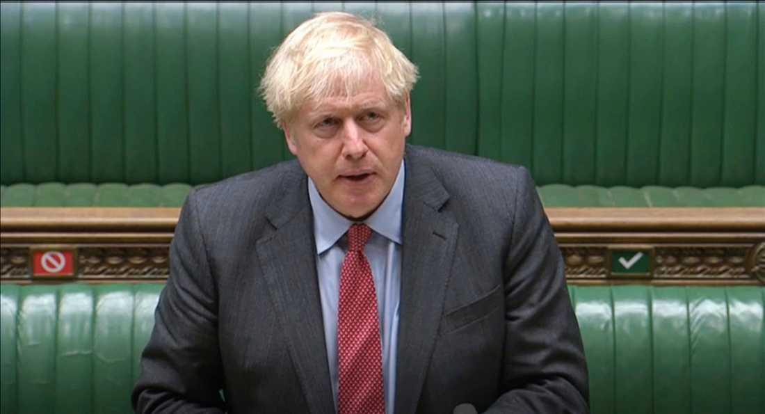 Boris Johnson i underhuset på tisdagen.