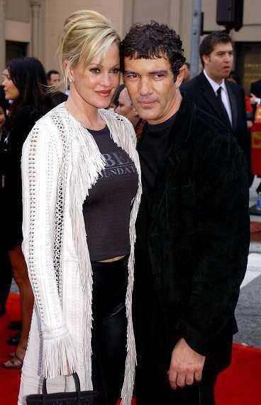Banderas med hustrun Melanie Griffith.