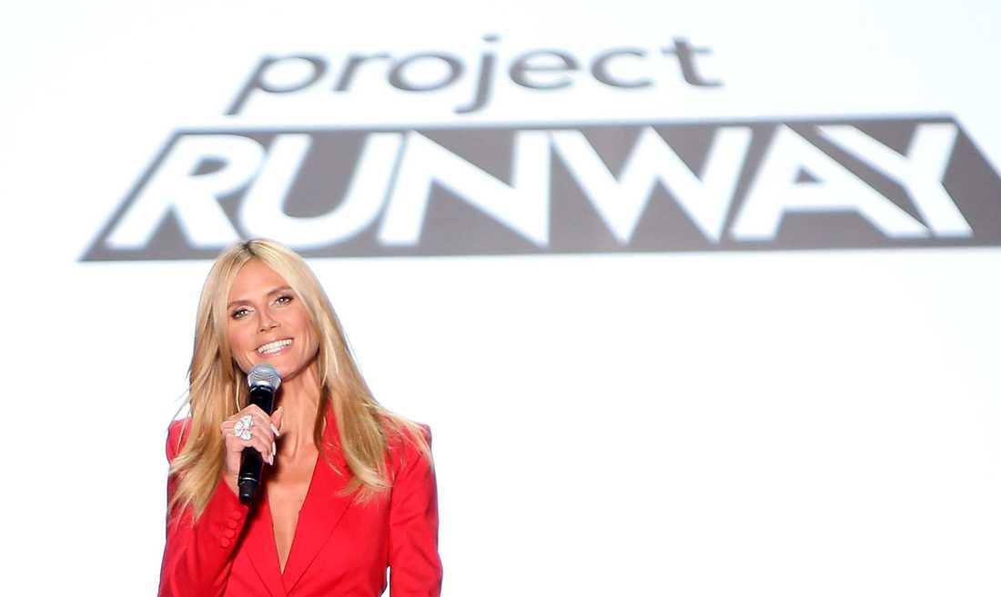 "Heidi Klum leder ""Project runway""."