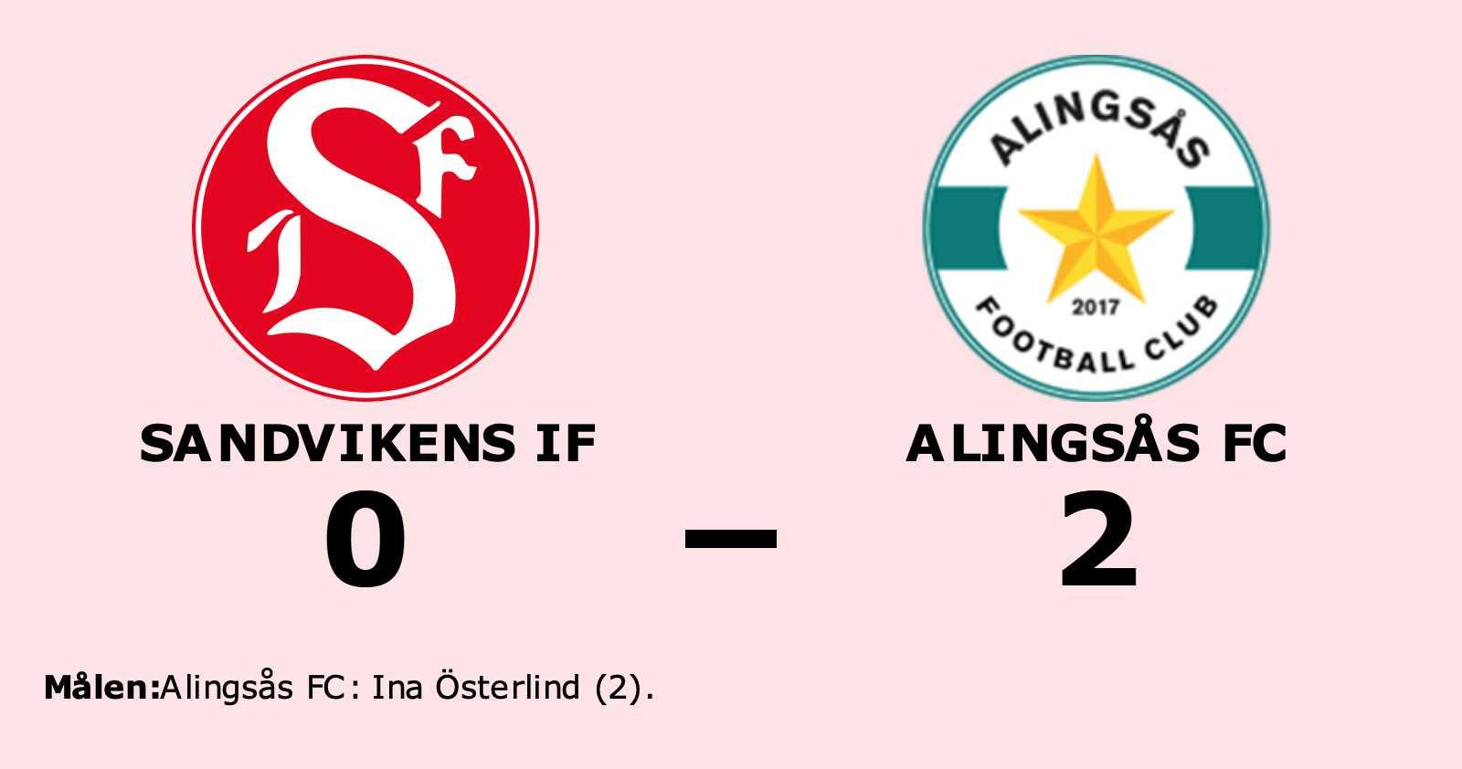 Alingsås FC äntligen segrare igen efter vinst mot Sandvikens