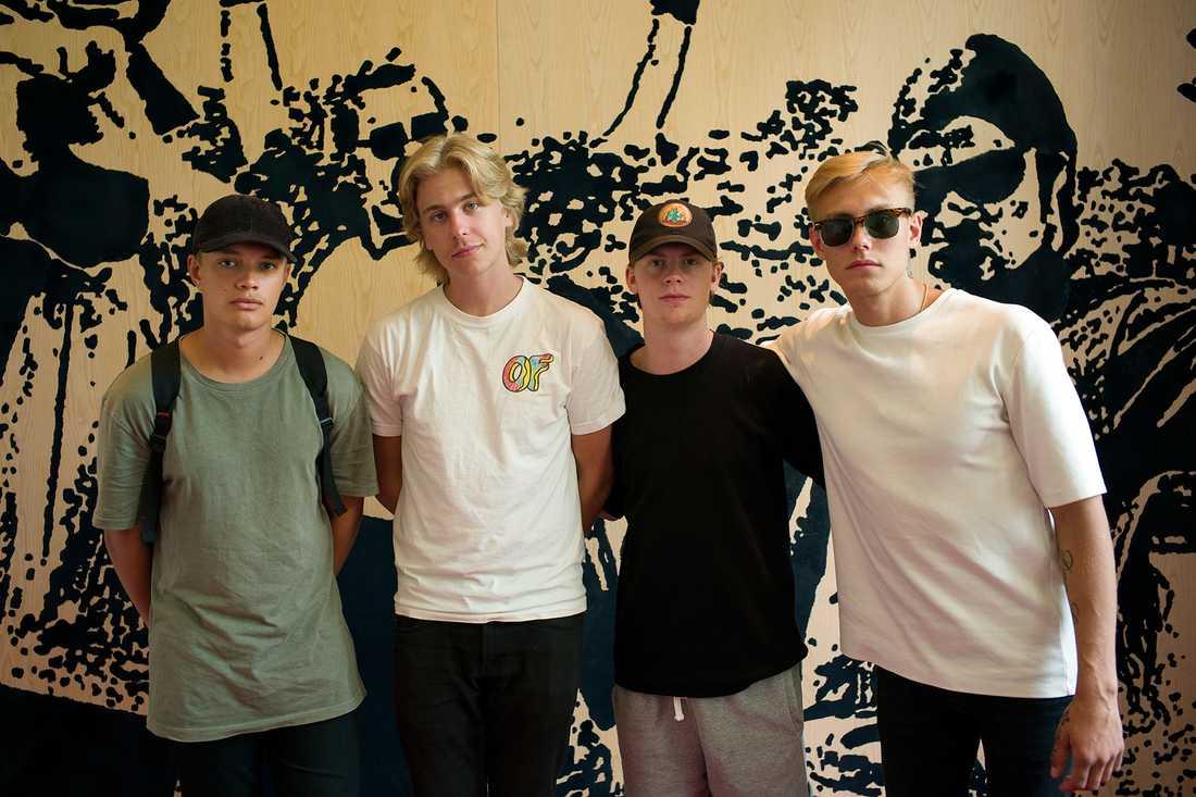 Hov1 utgörs av (från vänster) Ludwig Kronstrand, Noel Flike, Axel Liljefors Jansson och Dante Lindhe. JOHAN PERSSON
