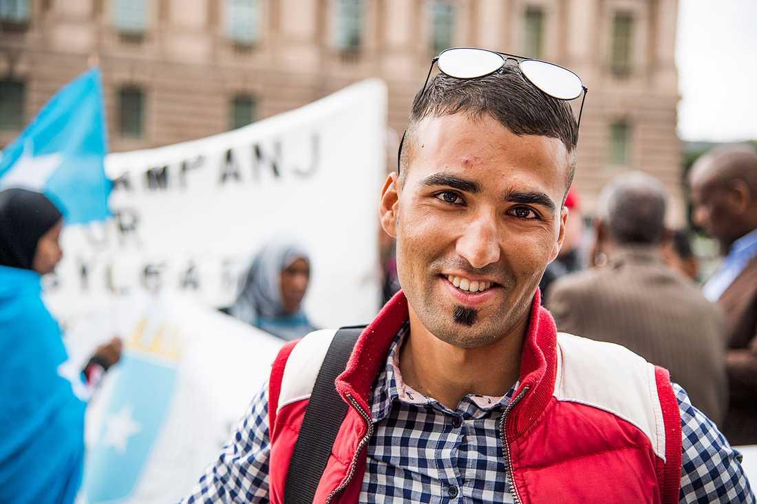 21-årige Hedayatullah Arsan från Afghanistan.