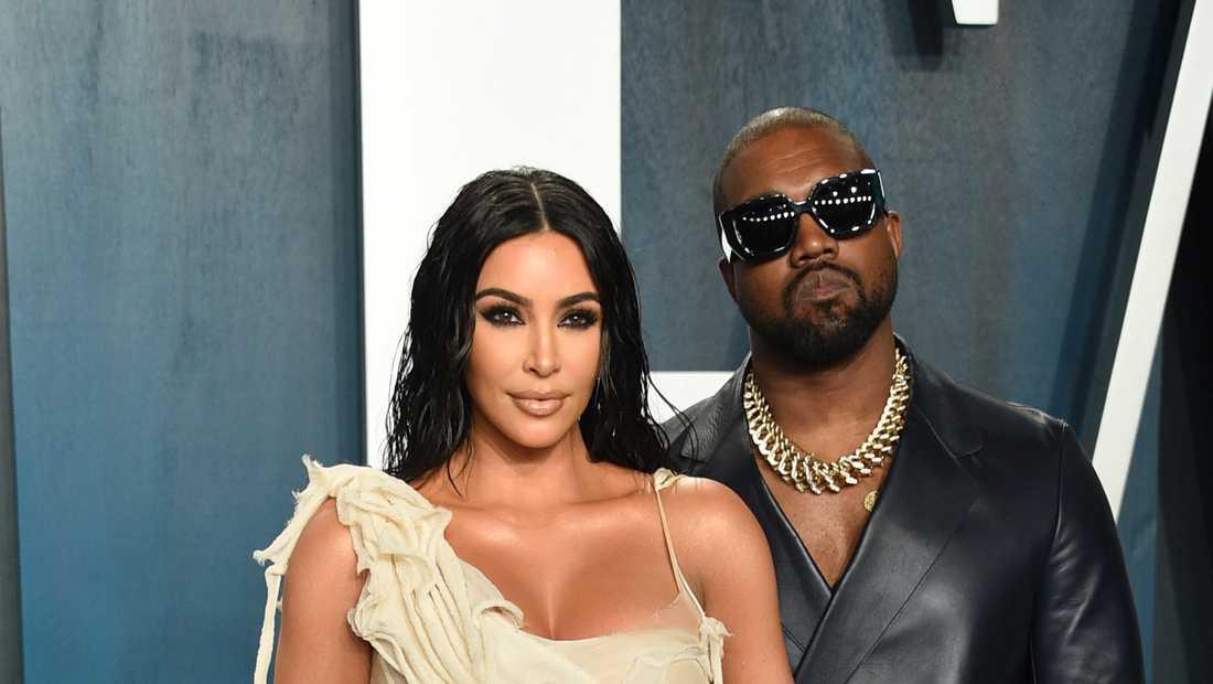 Kim Kardashian blev bestulen på förlovningsringen med en diamant på 18 carat som hon hade fått av Kanye West. Arkivbild.