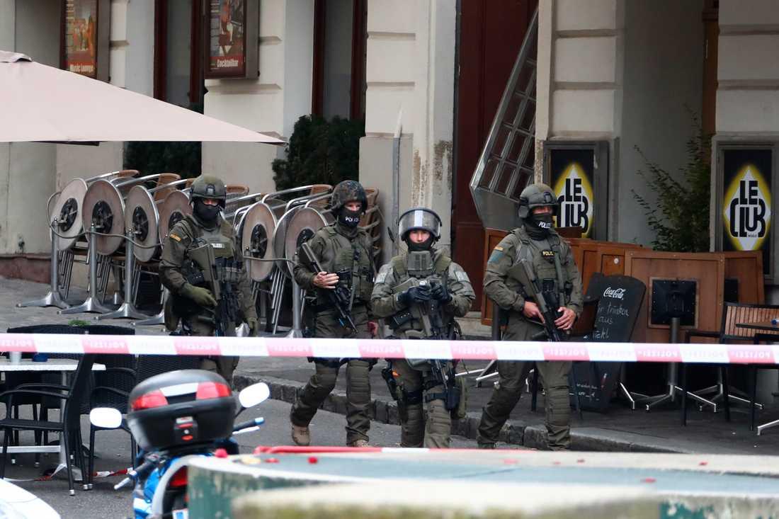 Efter terrordådet har polisen genomfört 18 räder och gripit 14 personer, meddelar Österrikes inrikesminister under tisdagseftermiddagen.