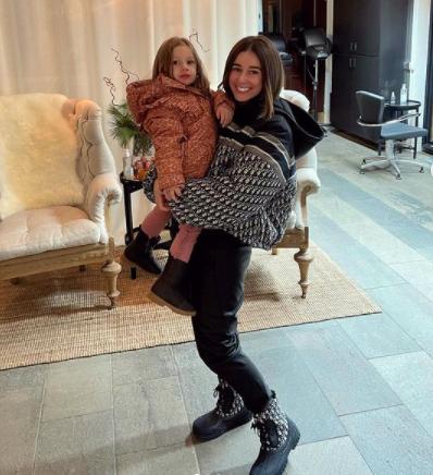 Shanga Forsberg och dottern Florence.