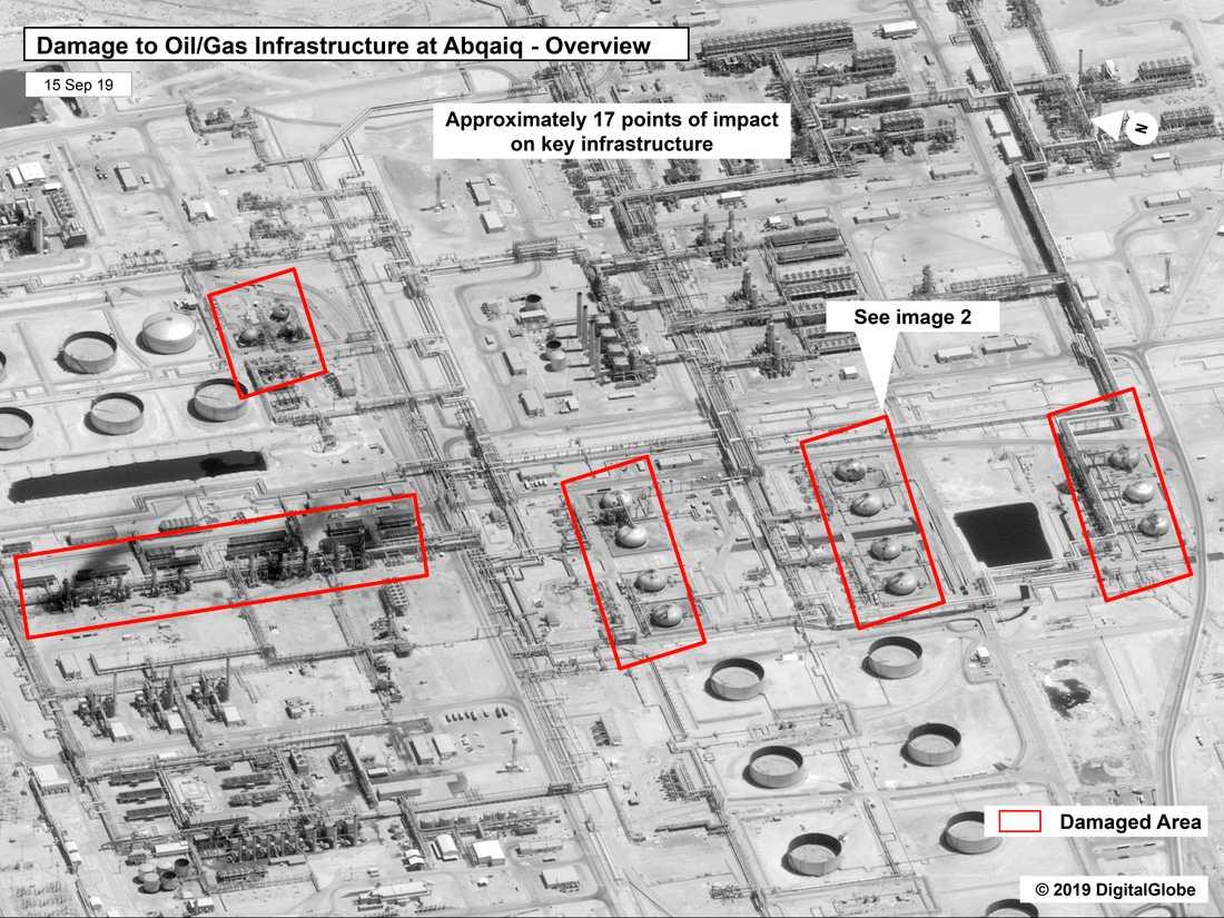 Attacken mot saudiska oljeanläggningarna.