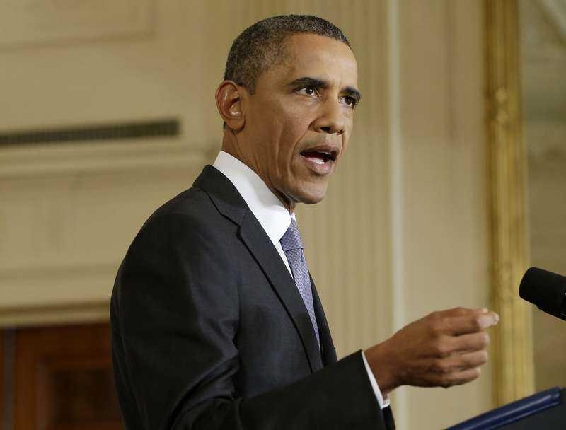 """Redan för ett år sedan varnade president Obama för att användandet av kemiska stridsmedel skulle vara att korsa hans """"röda linje""""."""